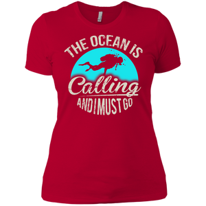The Ocean Is Calling And I Must Go V-Necks