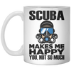 Scuba Makes Me Happy - Mug