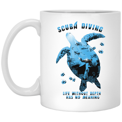 Life Without Depth Has No Meaning White Mug
