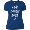 Live Laugh Dive Ladies Tees and V-Neck