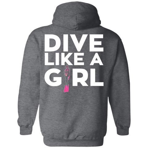 Dive Like A Girl Hoodies - scubadivingaddicts