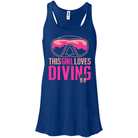 Image of This Girl Loves Diving (Freediving Version) Tank Tops