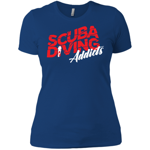 Image of Scuba Diving Addicts Ladies Tees and V-Neck