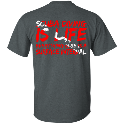 Image of Scuba Diving Is Life Dark Heather