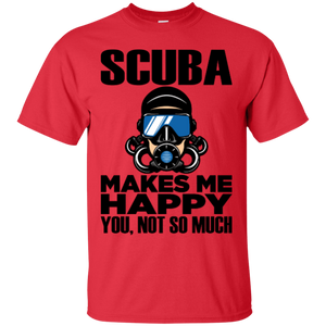 Scuba Makes Me Happy Men's Tees and V-Neck
