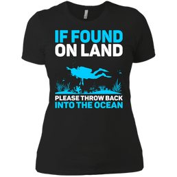 If Found On Land Please Throw Back Into The Sea Ladies Tees