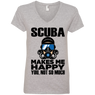 Scuba Makes Me Happy Ladies Tees and V-Neck