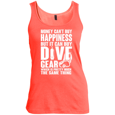 Image of Money Can't Buy Happiness But It Can Buy Dive Gear Which Is Pretty Much The Same Thing Tank Tops