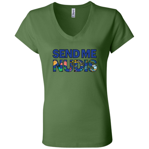 SEND ME NUDIS Ladies V-Neck T-Shirt