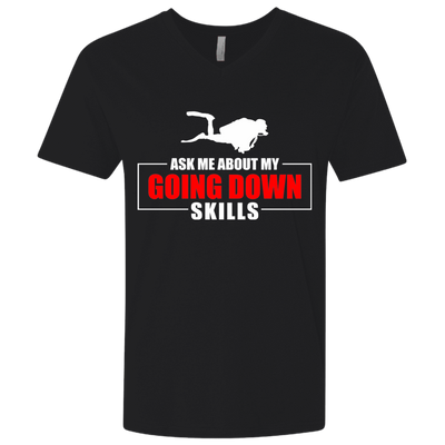 Ask Me About Going Down Skills Men's Tees and V-Neck