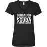 Education Is Important But Scuba Is Importanter - Ladies Tees and V-Necks