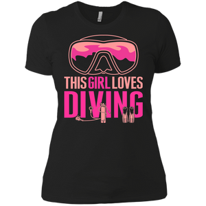 This Girl Loves Diving Tees