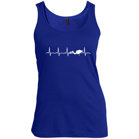 Image of Scuba Heartbeat Tank Tops
