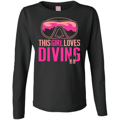 This Girl Loves Diving (Freediving Version) Long Sleeves