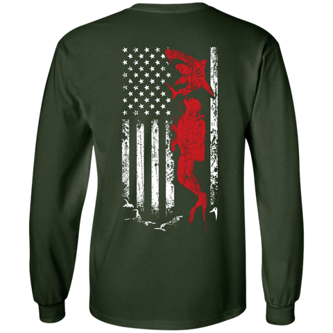 Image of USA Scuba Flag Long Sleeves - scubadivingaddicts