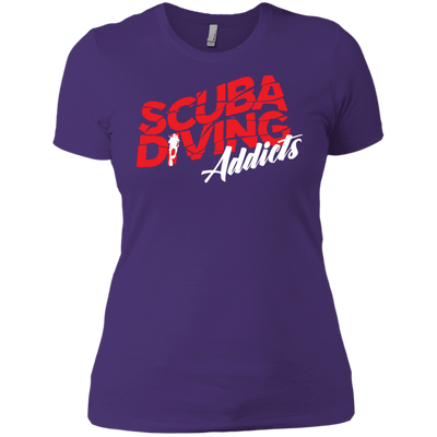 Scuba Diving Addicts Ladies Tees and V-Neck
