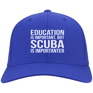 Education Is Important But Scuba Is Importanter Caps
