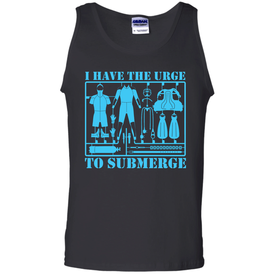 I Have The Urge To Submerge Tank Tops - scubadivingaddicts