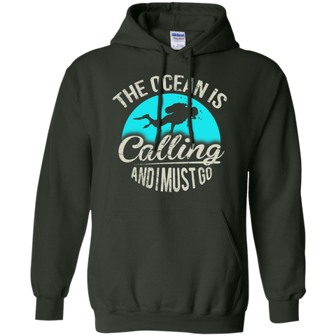 Image of The Ocean Is Calling And I Must Go Hoodies