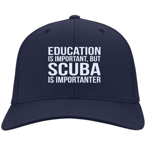 Image of Education Is Important But Scuba Is Importanter Caps