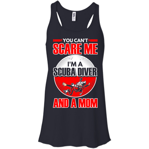 Image of You Can't Scare Me I'm A Scuba Diver And A Mom Tank Tops - scubadivingaddicts