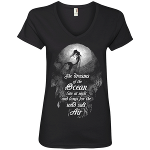 She Dreams Of The Ocean Ladies Tees and V-Necks
