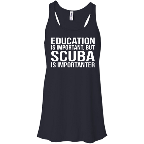 Image of Education Is Important But Scuba Is Importanter - Tank Tops