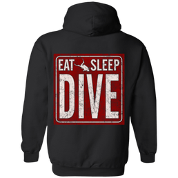 Eat Sleep Dive Hoodies