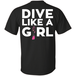 Dive Like A Girl Tees