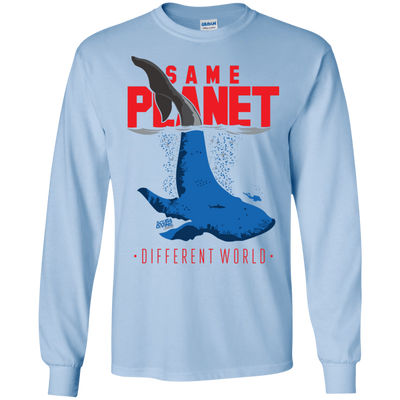 Same Planet - Different Worlds Red Long Sleeves