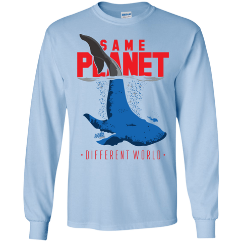 Image of Same Planet - Different Worlds Red Long Sleeves