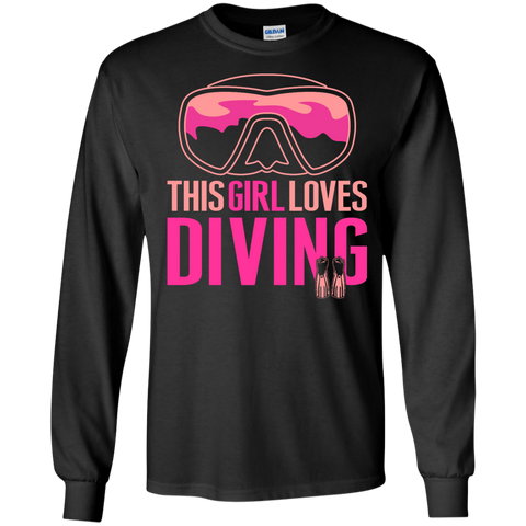 Image of This Girl Loves Diving (Freediving Version) Long Sleeves