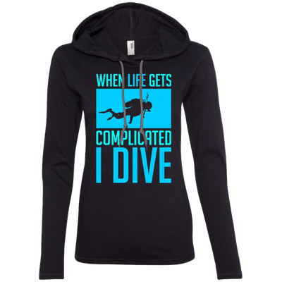 When Life Gets Complicated I Dive Hoodies - scubadivingaddicts