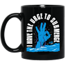 I Have The Urge To Submerge Black Mug - scubadivingaddicts