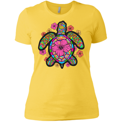 Turtle Hibiscus Ladies Tees