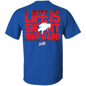 Life Is Short, Dive Hard Men's Tees and V-Neck