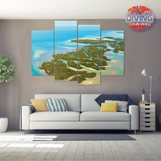 Florida Keys 4 Piece Canvas