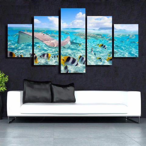 Image of Azure Ocean Canvas Wall Print - scubadivingaddicts