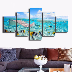 Azure Ocean Canvas Wall Print - scubadivingaddicts