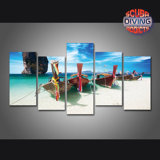 Maya Beach 5 Piece Canvas