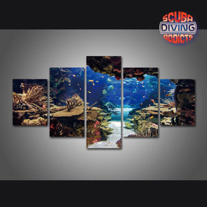 Divers' Playground 5 Piece Canvas