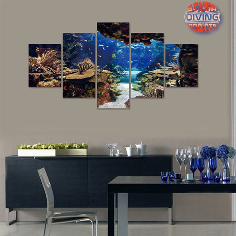 Image of Divers' Playground 5 Piece Canvas