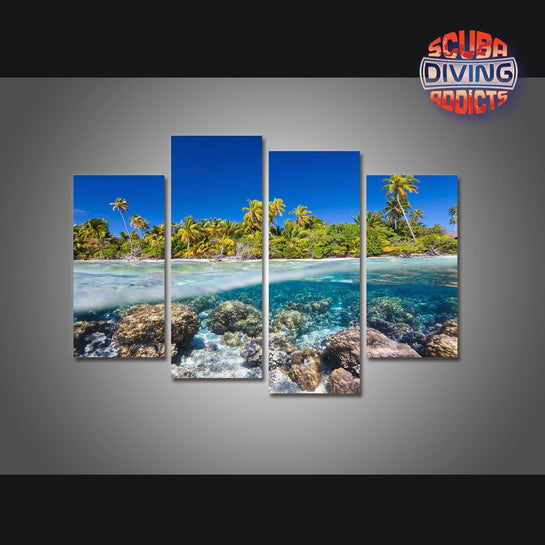 Island Breakaway 4 Piece Canvas