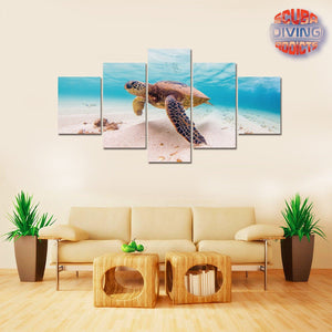Turtle Dream 5 Piece Canvas