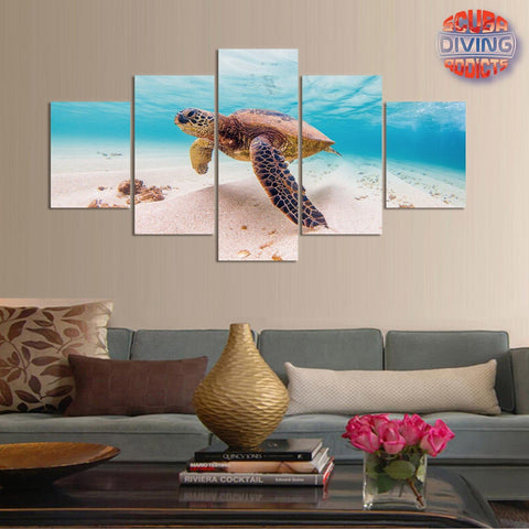 Image of Turtle Dream 5 Piece Canvas