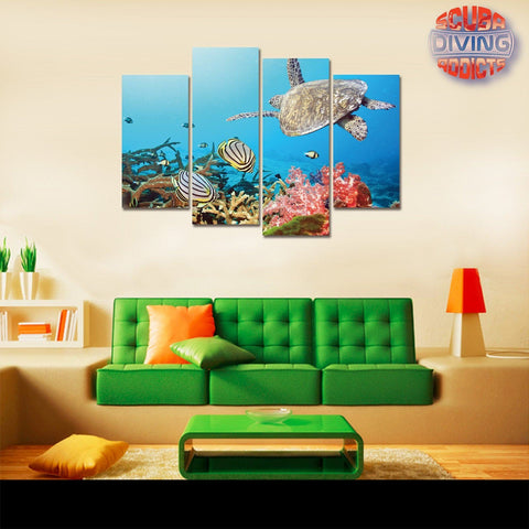 Image of Turtle Island 4 Piece Canvas