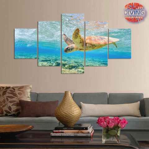 Image of Turtle Playground 5 Piece Canvas