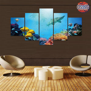 Shark's Paradise 5 Piece Canvas