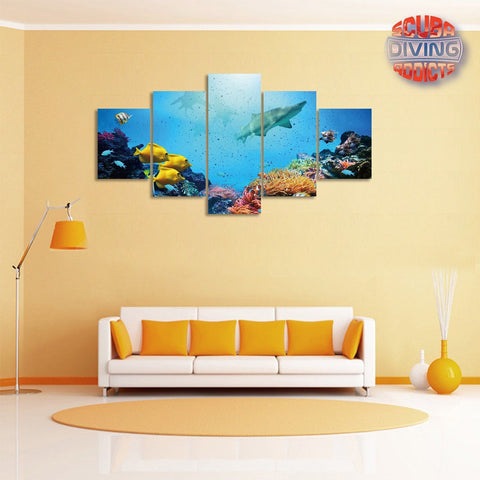 Image of Shark's Paradise 5 Piece Canvas
