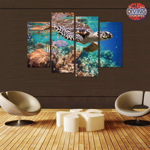 Image of Ocean Paradise 4 Piece Canvas